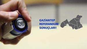Gaziantep Referandum Sonuçları 2017 Evet Hayır Oranı