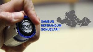 Samsun Referandum sonuçları 2017 Evet Hayır oranı