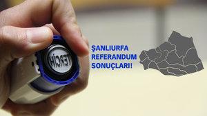 Şanlıurfa Referandum sonuçları 2017 Evet Hayır oranı