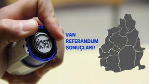 Van Referandum sonuçları 2017 Evet Hayır oranı