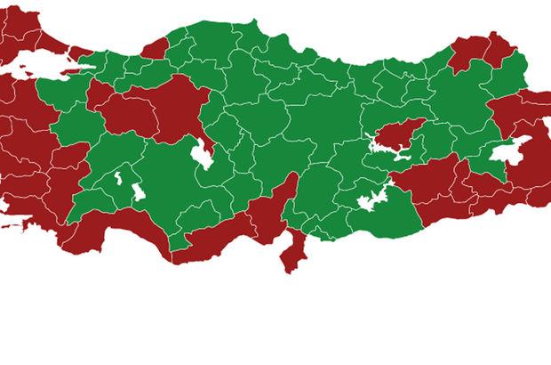 Harita üzerindeki dağılım diğer seçimlere göre nasıl oldu? (2017 Anayasa Değişikliği Referandumu)