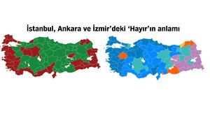 İstanbul, Ankara ve İzmir'den 'Hayır' çıktı