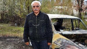 Kastamonu'da oy kullanmaya giden imamın arabası yandı
