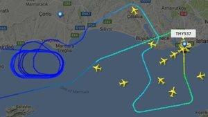 THY'nin Burkina Faso uçağına yıldırım isabet etti