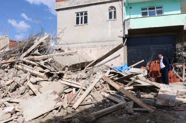 Samsun'da inşaat çöktü