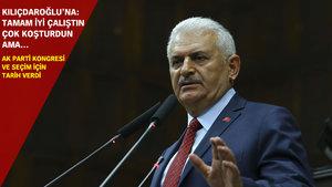 Başbakan Yıldırım AK Parti kongresi ve seçim için tarih verdi