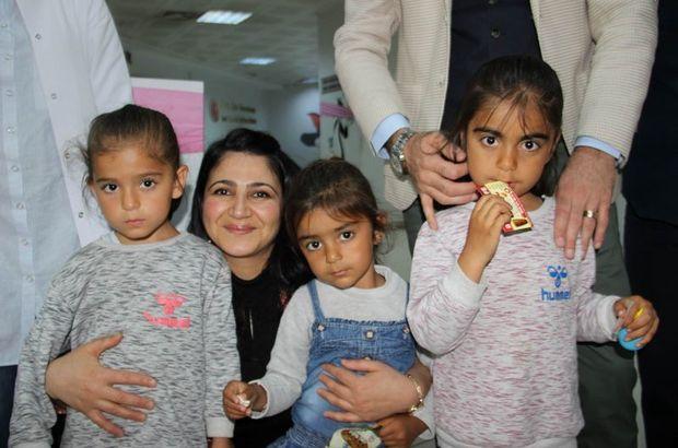 Çocuklar için hastaneyi süslediler