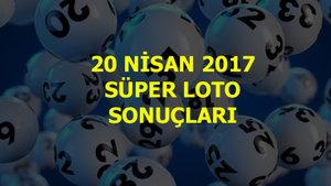 Süper Loto sonuçları (20 Nisan 2017)