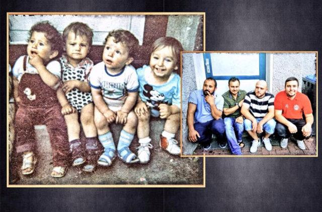 Çocukluk fotoğraflarını yeniden canlandırdılar