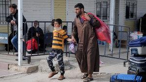 Kilis'teki 100 Suriyeli, Bab'a geri döndü