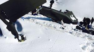 Tunceli Pülümür'de düşen helikopterin enkazı Ankara'ya gönderildi