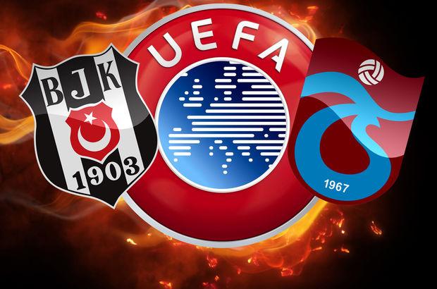 UEFA'dan Beşiktaş ve Trabzonspor'a kötü haber! Beşiktaş ve Trabzonspor ceza mı aldı?