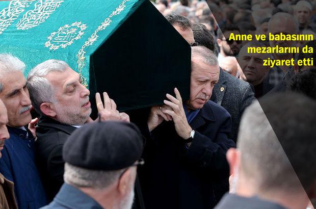 Cumhurbaşkanı Erdoğan, Abdurrahman Külünk'ün cenaze törenine katıldı