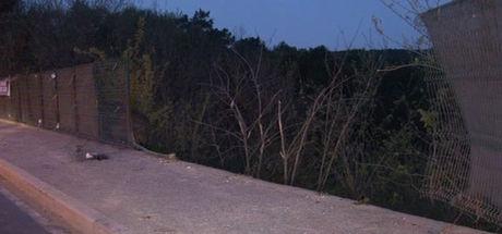 Direksiyon hakimiyetini kaybeden taksi ormana uçtu