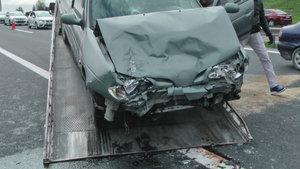 TEM Otoyolu'nda meydana gelen kazada 7 kişi yaralandı