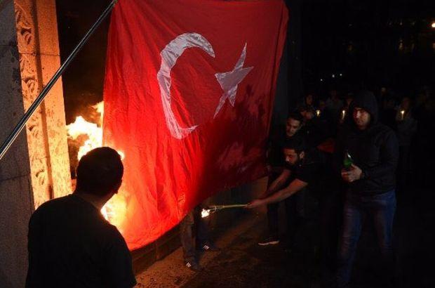 Dışişleri'nden Türk bayrağı yakılmasına sert tepki