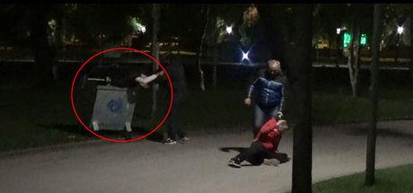 Bursa'da polis, otomobil hırsızlarını çöp konteynerinde yakaladı