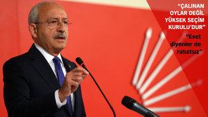 Kemal Kılıçdaroğlu: AYM Başkanı referandumun şaibeli olduğunu açıkça ortaya koydu