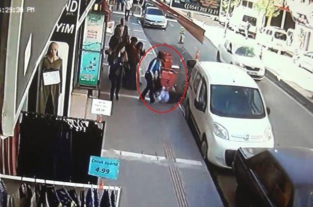 Kız kardeşler sokak ortasında birbirine girdi, sonrası korkunç!