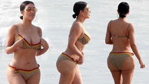 Kim Kardashian'ın doğal pozları olay oldu
