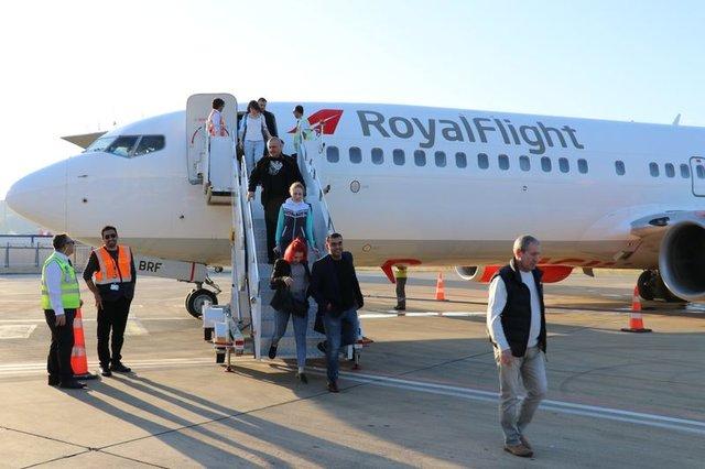 Rusya'dan sezonun ilk charter seferi düzenlendi
