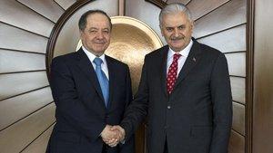 Başbakan Binali Yıldırım, Mesud Barzani ile görüştü