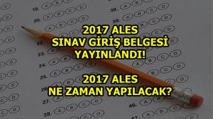 2017 ALES sınav giriş belgesi yayınladı!