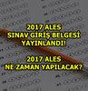 ALES sınav giriş belgesi bekleyen adayların bekleyişine son veren ÖSYM, sınav giriş belgesini internet üzerinden duyurdu. İşte 2017 ALES sınav giriş belgesi...