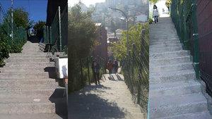 Burhaniye Metrobüs durağının çile merdivenleri!