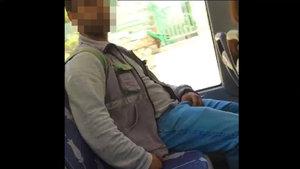 İzmit'te otobüste tacizde bulunan kişi böyle görüntülendi