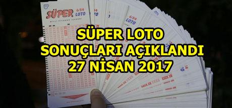 Süper Loto sonuçları (27 Nisan 2017)