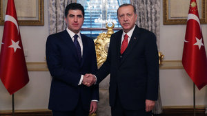 Erdoğan, Neçirvan Barzani'yi kabul etti