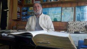 Rize'de 85 yaşındaki Abdullah Topçu 74 yıldır günlük tutuyor