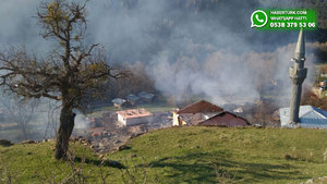 Çorum'da köy yangını