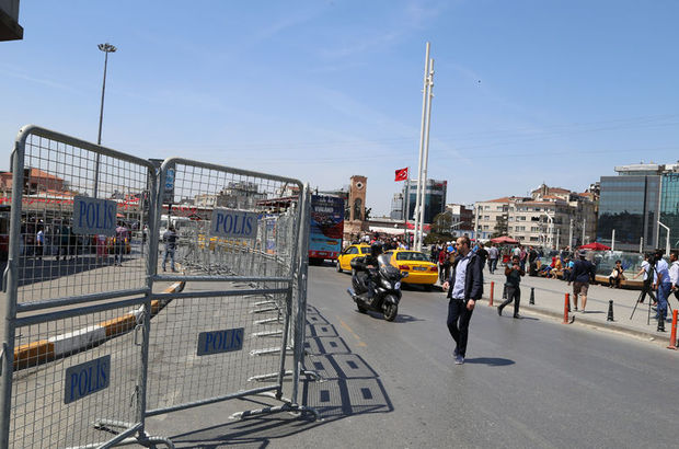 Taksim Meydanı'nın çevresi bariyerlerle kapatıldı