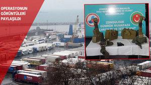 Zonguldak Limanı'nda iki antitank füzesi ele geçirildi