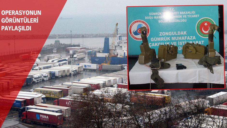 Zonguldak Limanında iki antitank füzesi ele geçirildi