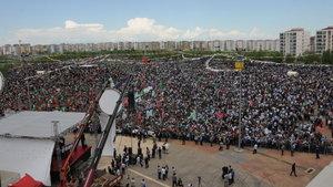 Diyarbakır'da 'Kutlu Doğum' mitinginde sıkı güvenlik önlemi