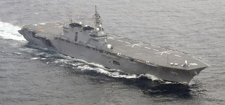 Japonya en büyük savaş gemisini ABD için gönderdi!