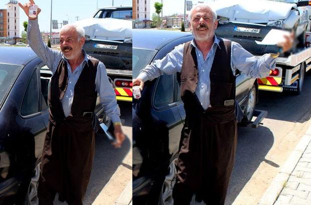 Adıyaman'da trafik cezası kesilen adamın sevinci şaşırttı