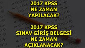 KPSS ne zaman? (2017)