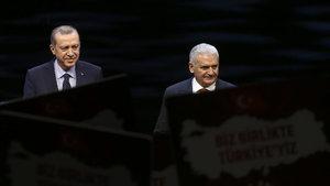 Erdoğan ve Yıldırım Beştepe'de görüştü