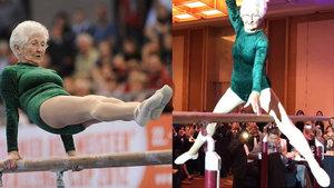 İşte dünyanın en yaşlı jimnastikçisi Johanna Quaas