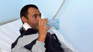 Ameliyat sonrası ilk işi kana kana su içmek oldu!
