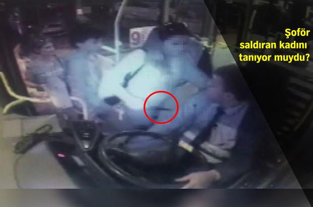 Otobüse binen kadın elindeki bıçağı bir anda şoföre sapladı!