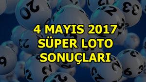 Süper Loto sonuçları (4 Mayıs 2017)