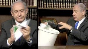Netanyahu, Hamas'ın yeni siyaset belgesini buruşturup çöpe attı