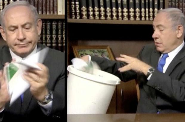Netanyahu o belgeyi buruşturup çöpe attı: Buraya ait