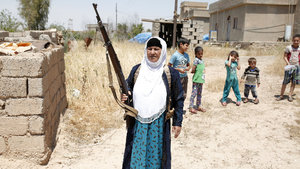 Musul'da DEAŞ'a karşı silahlı nöbet