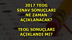 2017 TEOG sonuçları ne zaman açıklanacak?